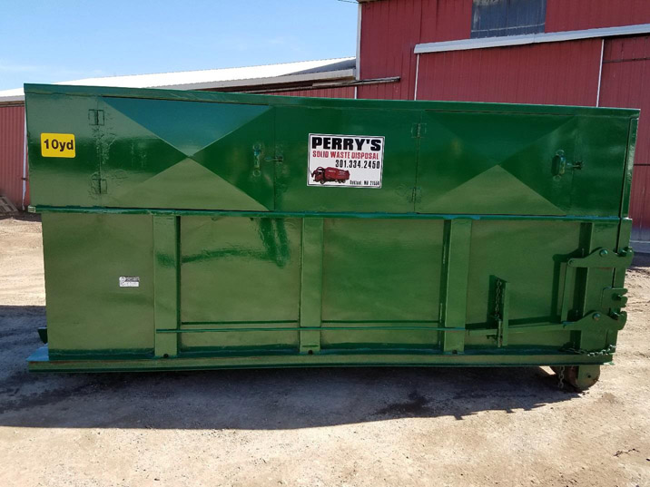 Converted 10 cubic yard roll off dumpster