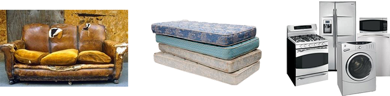 Bulk Items - Examples, couch, mattresses, appliances