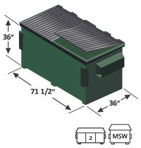 2 yard front load dumpster diagram