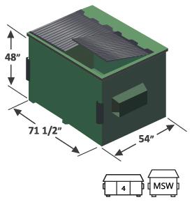 4 yard front load dumpster diagram