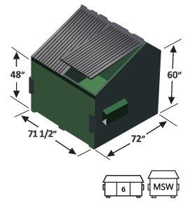 6 yard slant top front load dumpster diagram