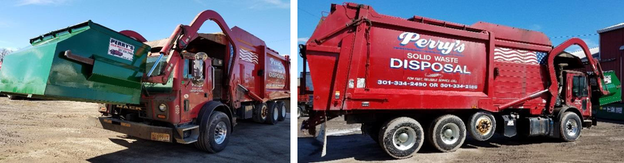 Front-load Garbage Truck in action